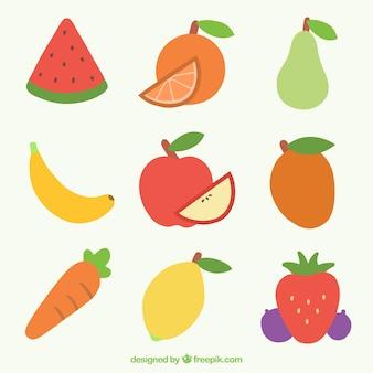 Vielzahl von früchten