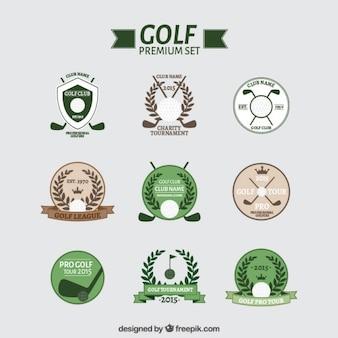 Vielzahl von golfabzeichen