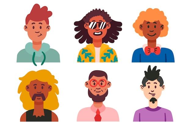 Vielzahl von menschen avatare
