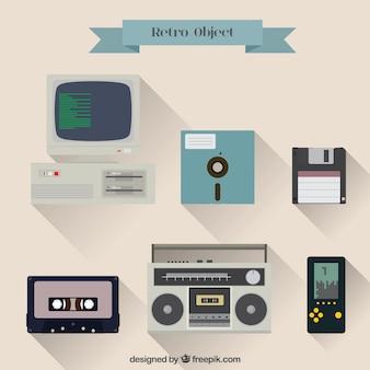 Vielzahl von retro-objekte