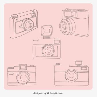 Vielzahl von skizzen kameras
