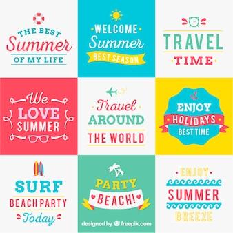 Vielzahl von sommer hintergründe