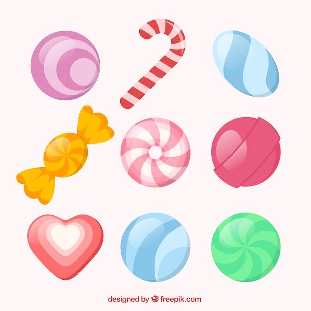 Vielzahl von süßigkeiten