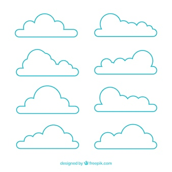 Vielzahl von wolken