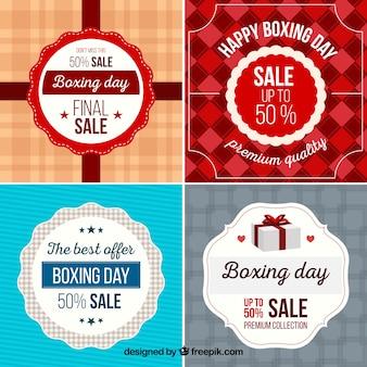 Vier aufkleber für boxing day sales