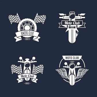 Vier biker-logo