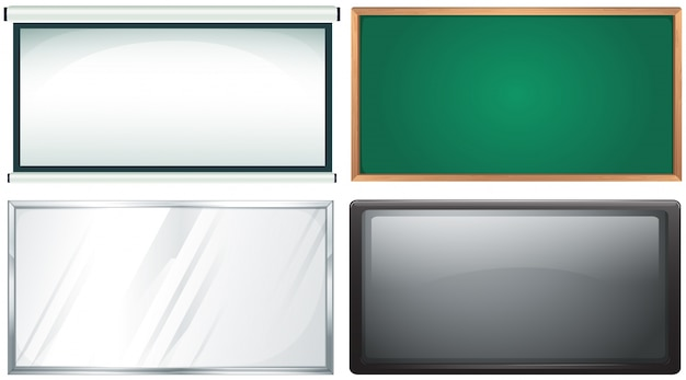 Vier design von board