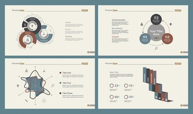Vier economics slide templates set
