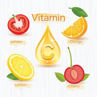 Vier früchte, die vitamin c geben