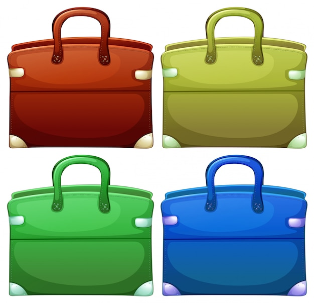 Vier handheld-taschen
