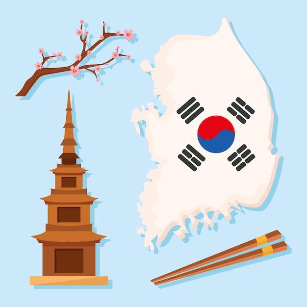 Vier koreanische kulturikonen
