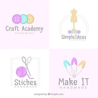 Vier logos für das handwerk