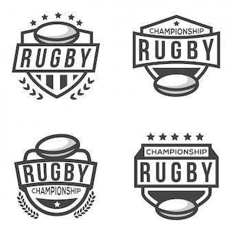 Vier logos für rugby