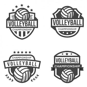 Vier logos für volleyball
