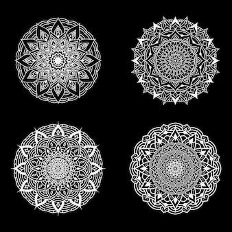 Vier luxus-mandala-set