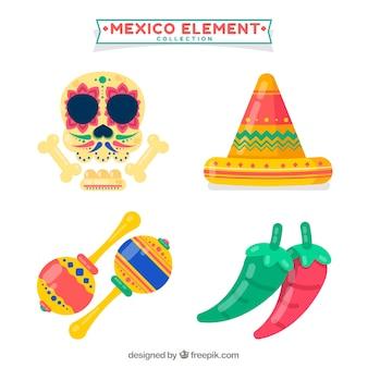 Vier mexikanische elemente