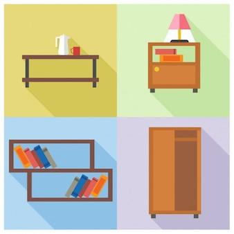 Vier möbel