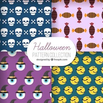 Vier muster von halloween