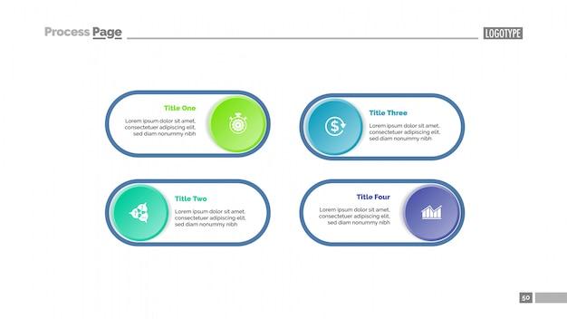 Vier option diagramm folie vorlage