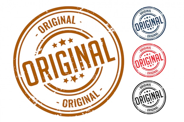 Vier original gummidichtungsstempelset design