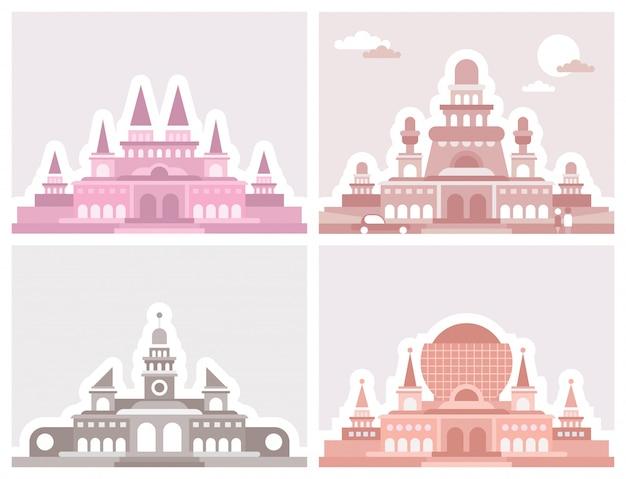 Vier paläste