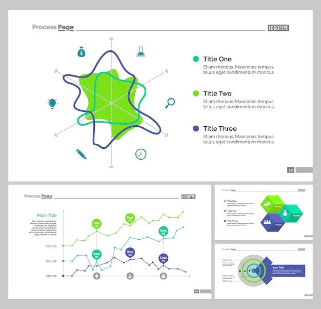Vier research slide vorlagen set