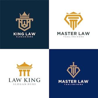 Vier rundes gesetz logo einfach