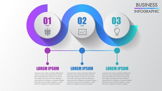 Vier schritte geschäft infographics
