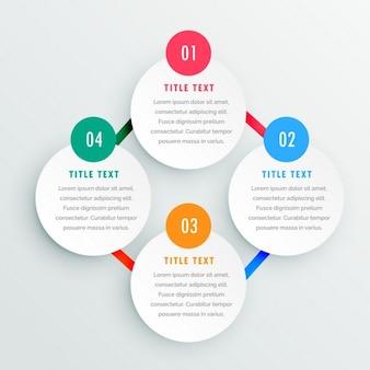 Vier schritte infografik-vorlage