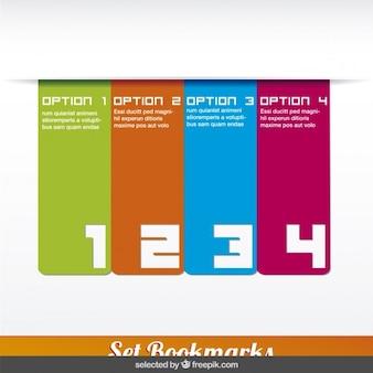 Vier vertikale infografiken schritte in form banner