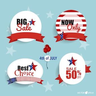 Vierte von juli big verkauf etiketten
