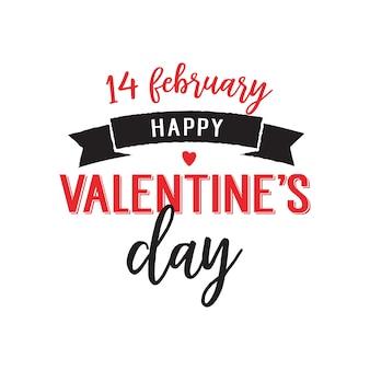 Vierzehn februar valentine day schriftzug