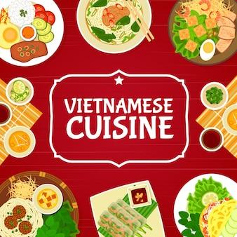 Vietnamesische restaurantgerichte