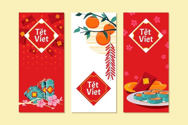 Vietnamesisches neujahrskonzept. übersetzung