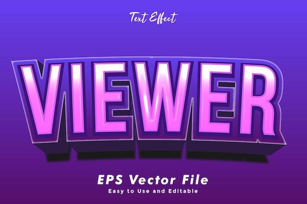 Viewer-texteffekt bearbeitbarer typografieeffekt