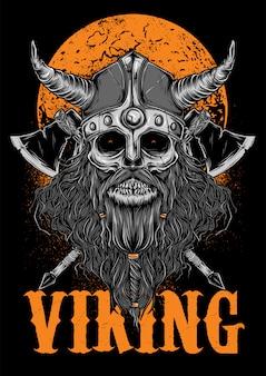 Viking corpse bone zombie illuastration