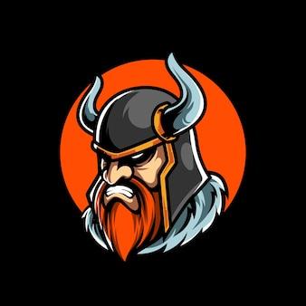 Viking e sport maskottchen logo