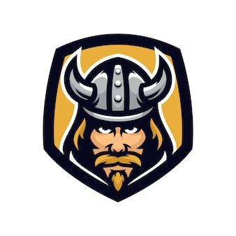 Viking-vektormaskottchen-ikonenillustration