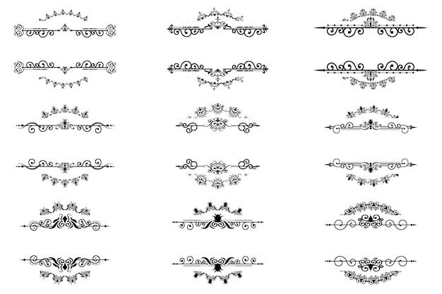 Viktorianischer ornamentrahmensatz