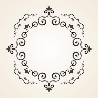 Viktorianischer rahmen. vintage-design