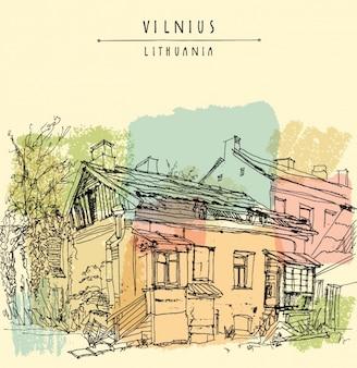 Vilnius hintergrund-design