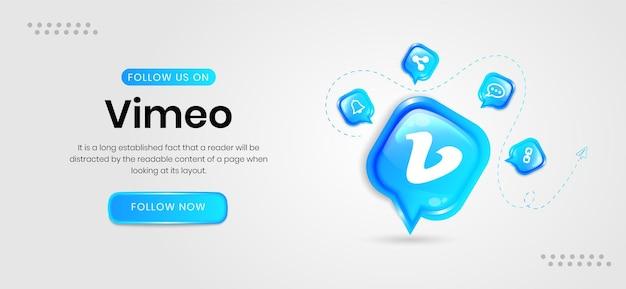 Vimeo-banner für soziale medien