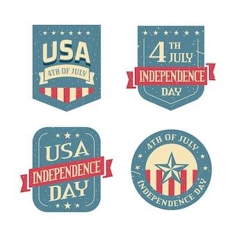 Vintage 4. juli - unabhängigkeitstag abzeichen
