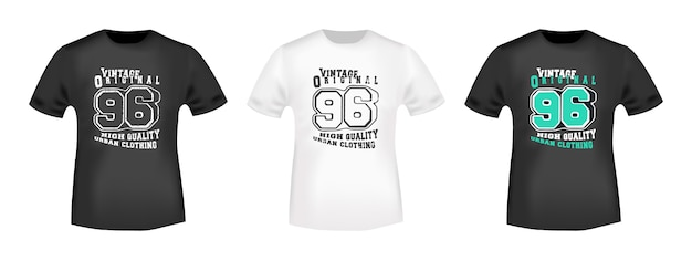 Vintage 96 t-shirt druckstempel