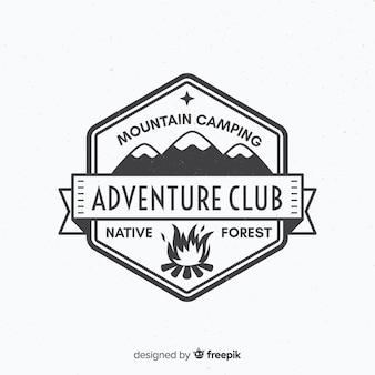 Vintage abenteuer logo hintergrund