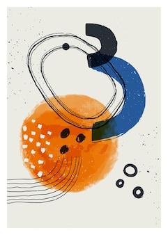Vintage abstrakter geometrischer druck