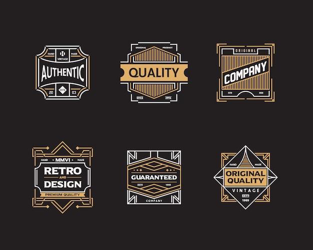 Vintage abzeichen festgelegt