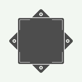 Vintage abzeichen form