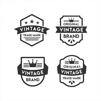 Vintage abzeichen retro logos