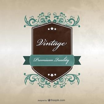 Vintage-abzeichen template-design